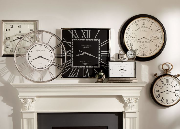 Clock Wall Decor 678 best decorating with clocks images on pinterest | vintage