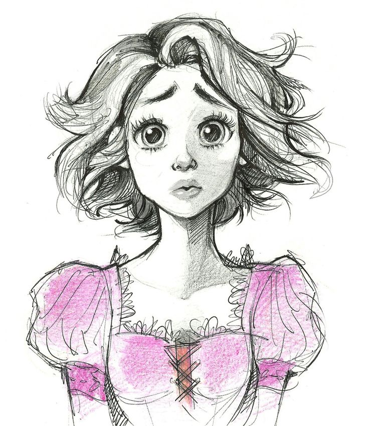 I LOVE Rapunzel, long hair and all... But I especially love her haircut at the end.