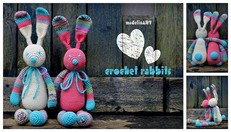 crochet rabbits to FRANCE :)