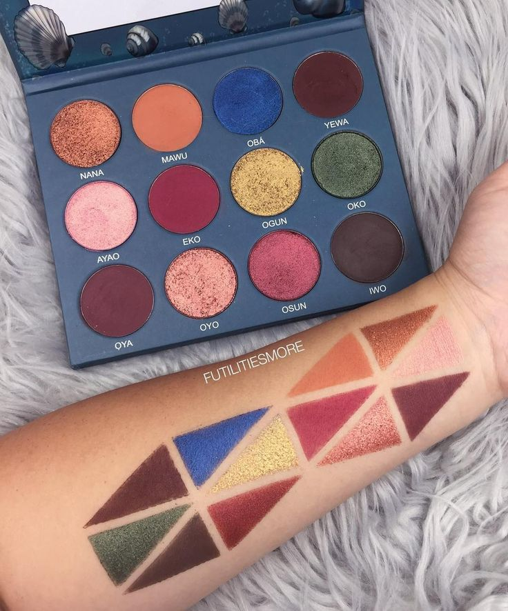 SWATCHES Yemoja palette by @opvbeauty