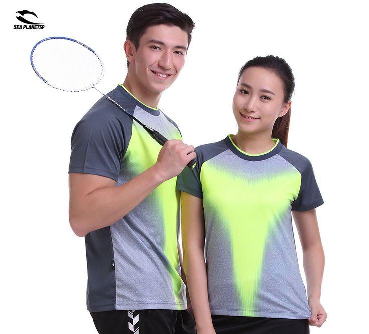 SEA PLANETSP 2017 Sportswear sweat Quick Dry breathable badminton shirt , Women / Men table tennis clothes team Gym T Shirts