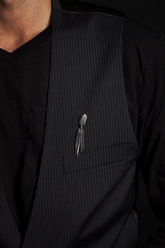 Mens Gold//Silver HAT head Shirt Collar Pins Long Tie Bar Wedding Party