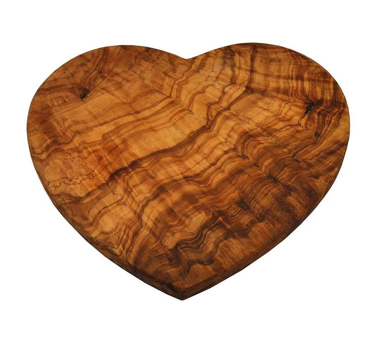 Olive wood heart chopping board