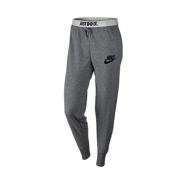 Women's Nike Rally Plus Jogger Pants featuring polyvore, fashion, clothing, activewear, activewear pants, pants, nike activewear, nike, athletic sportswear, logo sportswear and nike sportswear