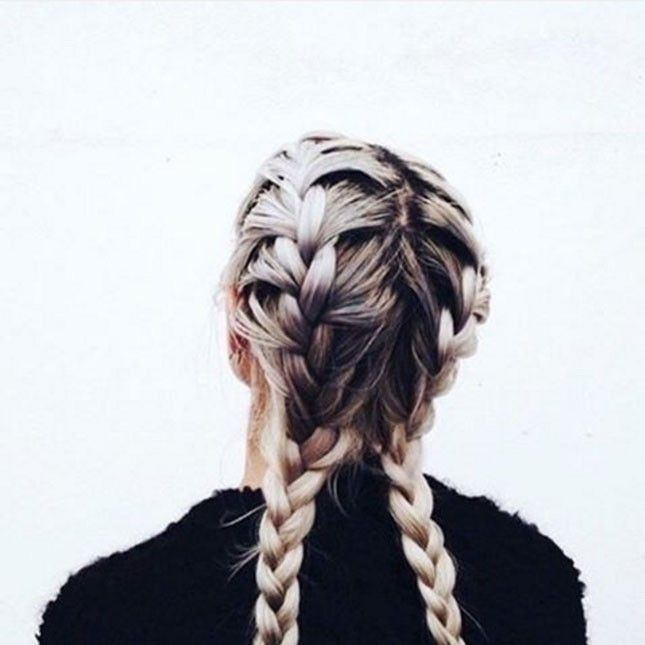 Bring back the days of ruling the playground with double French braids.