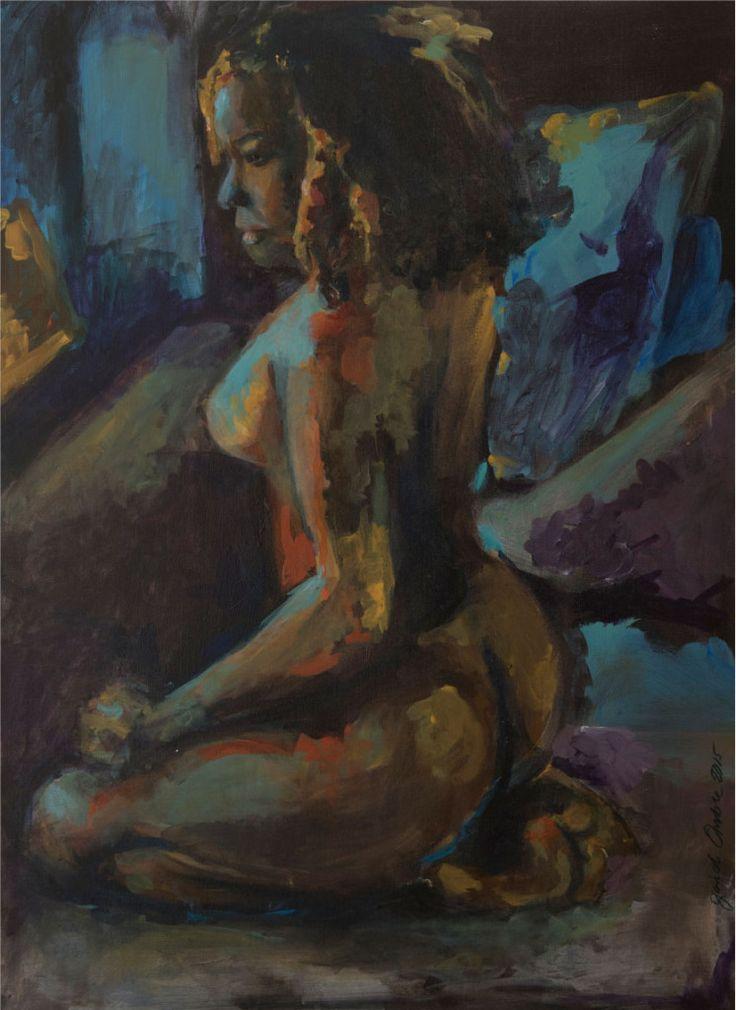 Schilderij 'Farida'. 60 x 80 cm € 1.795,- Actrice Farida van den Stoom stond model voor dit schilderij.