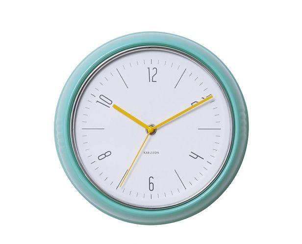 Zegar ścienny Retro, miętowy kolor