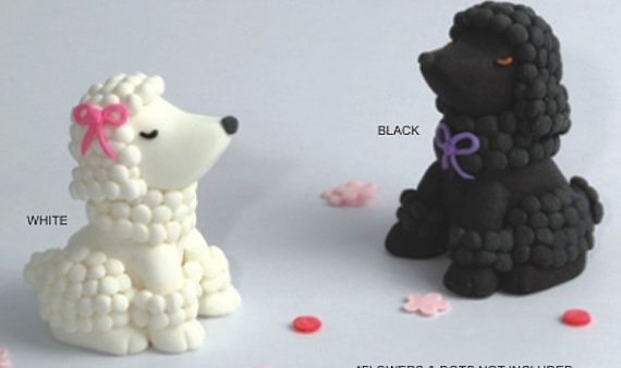 French Poodle Cake Topper