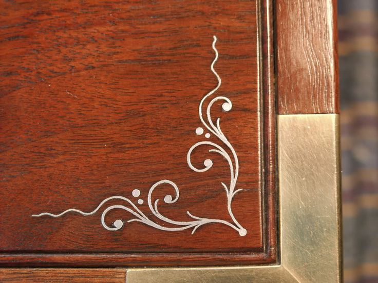 Copper Wire Inlay Wood Google Search Furniture