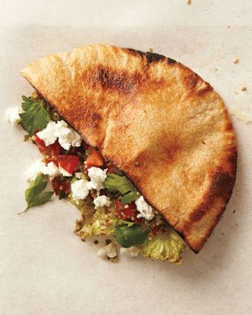 Tabouleh and Feta Sandwich