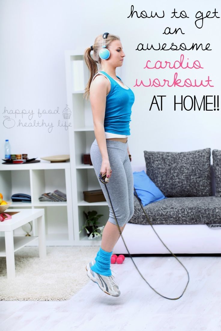 At Home Workout Series: Cardio - how to get an effective cardio workout right in the comfort of your own home | www.happyfoodhealthylife.com