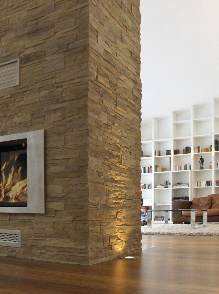 Wohnzimmer Wandgestaltung Steinoptik sdatec.com