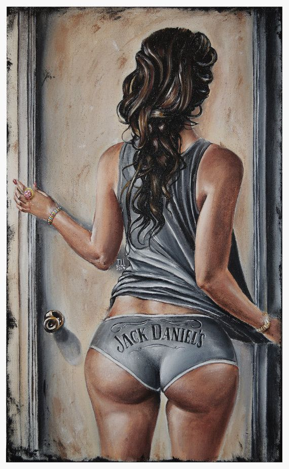 JEREMY WORST Open Up jack Daniels Original Artwork by JeremyWorst art painting drawing print jack daniels she squats bro