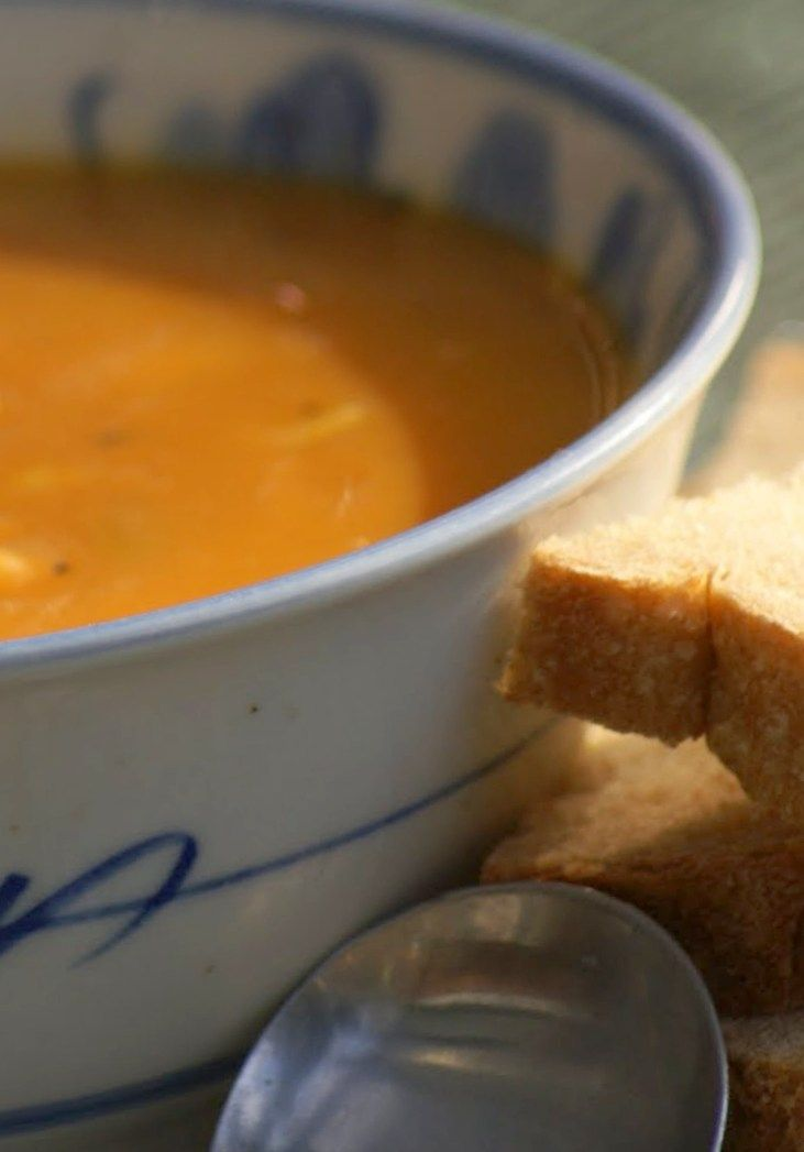 Sweet Potato and Sweet Corn Soup  |  Within a day the sensational mild autumn weather we were enjoying became an angry wintry storm, with bone-chilling winds from the south and squally rain. In amongst the efforts to put the thick qui...