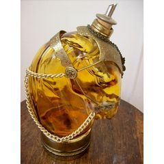 DECANTER  SHAPE OF A  HORSES HEAD MUSICAL for R165.00