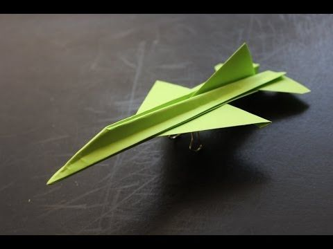 折り紙 紙飛行機 戦闘機 F15 折り方 作り方 How to make an F15 Eagle Jet Fighter Paper Plane origami - YouTube