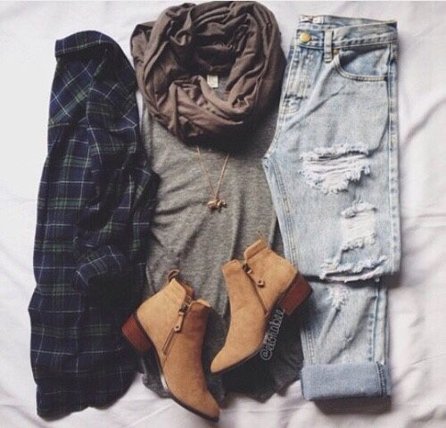 Omg!!! I need those boots. I also need the jeans,flannel, scarf...actually I just need everything lol. But especially the boots!!!