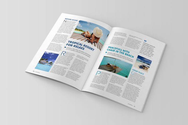 InDesign Magazine Template by habageud on Creative Market