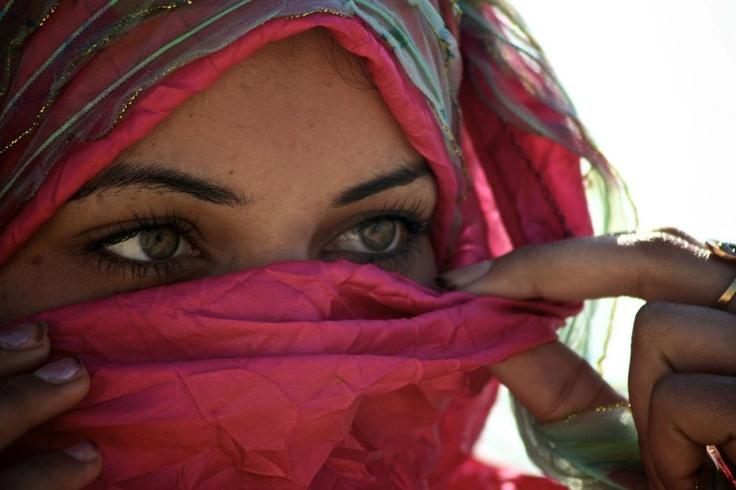 * closeup of a beautiful egyptian woman