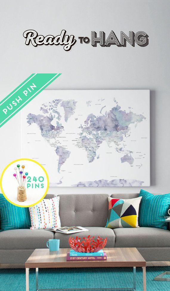 25+ beste ideeën over Wereldkaart canvas op Pinterest - Kaart ...