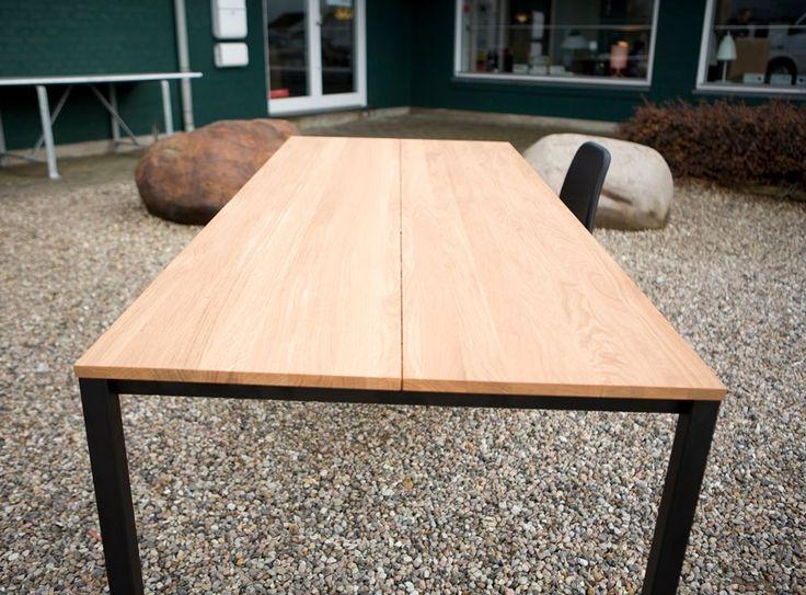 The very first Less Is More Table. #Beautiful #Tabletop #Oak #Black #Steel #JacobPlejdrup #LessIsMore #dk3 www.dk3.dk