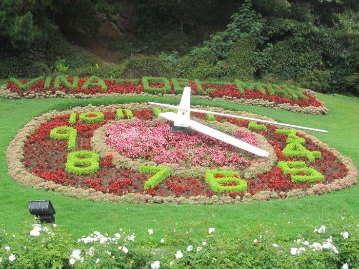 The famous flower clock at Viña Del Mar