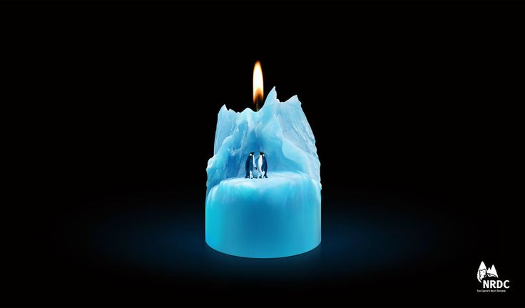 Iceberg Candle by Beijing Dentsu Advertising Co., Ltd. for Natural Resources Defense Council. #iceberg #candle #globalwarming