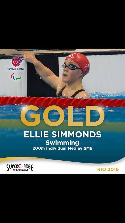 Well done Ellie #Gold #Paralympics #GB #Aldridge #Rio2016