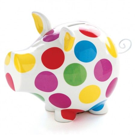 su0026p oink polka dot piggy bank oos