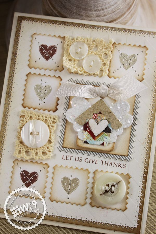 : Vintage Buttons, Clear Cut, Cut Stacker, Stamps Sets, Pink Squares, Patchwork Cards, Design Studios, Heart Buttons, Buttons Cards