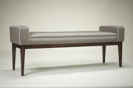 PIMLICO | ROBERT.LANGFORD.LONDON Ottoman will be upholsterd using Eden green velvet from Houles. 1250x 450x470