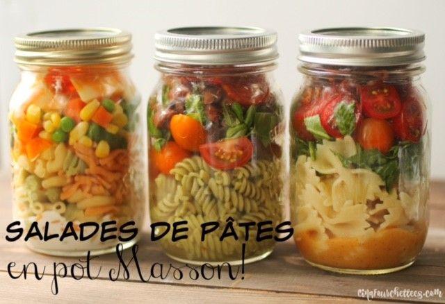 Cinq Fourchettes etc.: Trois recettes de pâtes en pot Masson pour des lunchs…
