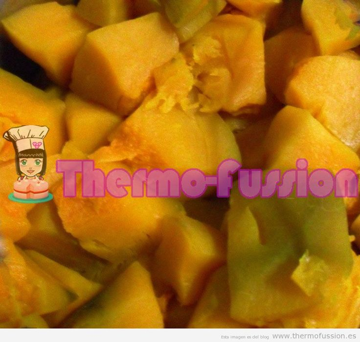   COCER CALABAZA THERMOMIX O FUSSIONCOOKthermo fussion cook