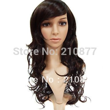 26.86$  Know more  - Capless Long High Quality Synthetic Brown Curly Synthetic Hair Wig For Women Cheap Wigs Online
