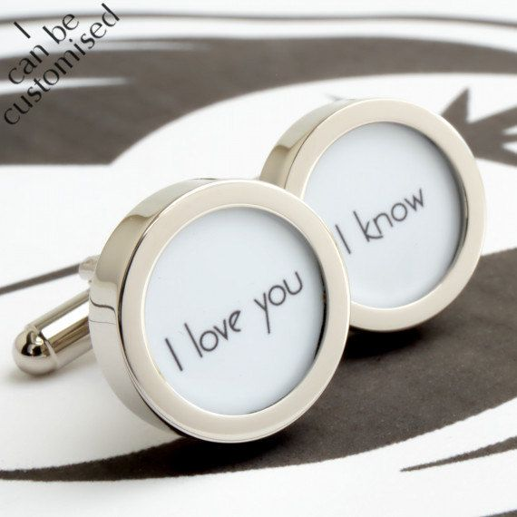 I Love You Know Star Wars Cufflinks For Grooms Weddings And Romance On Etsy