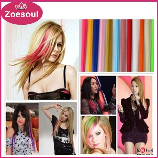 Straight Synthetic Clip In Natural Hair Extensions 20inch 50cm Solid 1 Clip Long Clip On Hair Extension Hairpiece,Colorful,Fashion,Trend,High quality,Cheaper,Always have your favorite color and suit you!