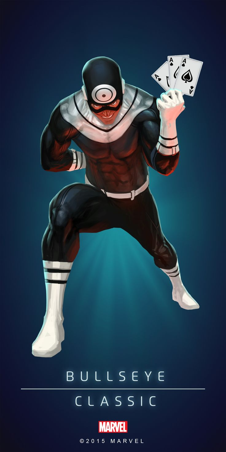 #Bullseye #Fan #Art. (BULLSEYE - CLASSIC IN: MARVEL'S PUZZLE QUEST!) BY: AMADEUS CHO! (THE * 5 * STÅR * ÅWARD * OF: * AW YEAH, IT'S MAJOR ÅWESOMENESS!!!™) [THANK U 4 PINNING!!!<·><]<©>ÅÅÅ+(OB4E)(IT'S THE MOST ADDICTING GAME ON THE PLANET, YOU HAVE BEEN WARNED!!!)