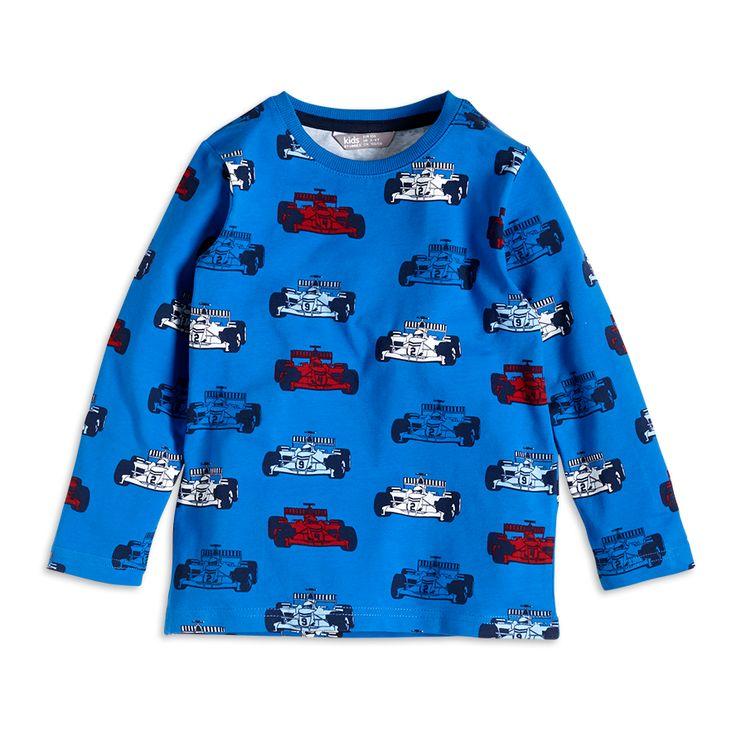 Pitkähihainen pusero, Sininen, Pojat 92-122 cm, Lapset | Lindex