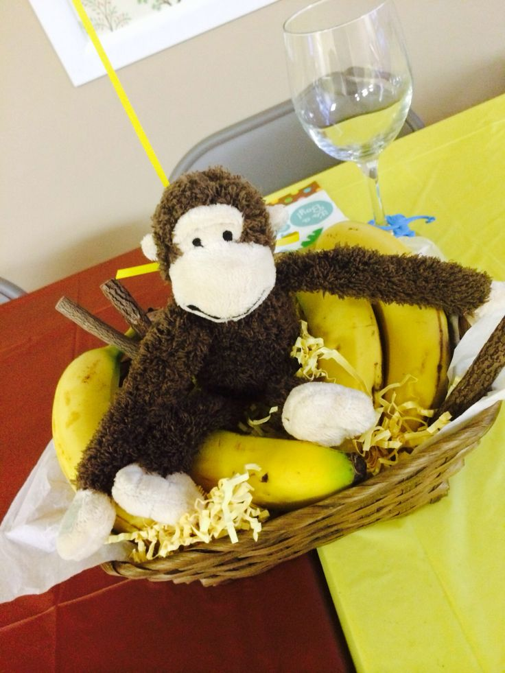 monkey baby shower centerpieces baby shower 2 pinterest