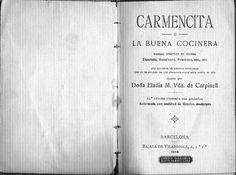 Carmencita o la buen cocinera  Cocina antigua