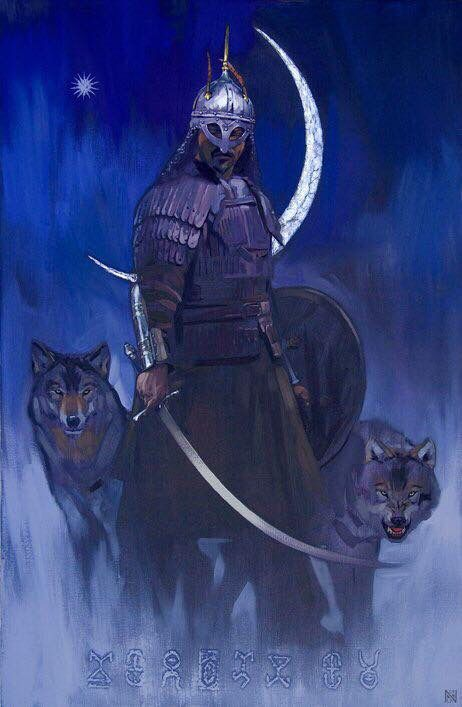 """Kazakh painter Nurlan Kilibayev. """"Arlan"""""""