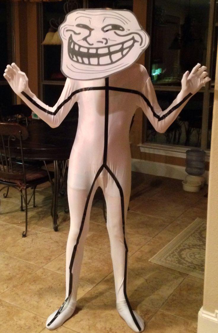 Troll Face: Internet meme costume #trollface #umad   Halloween ...