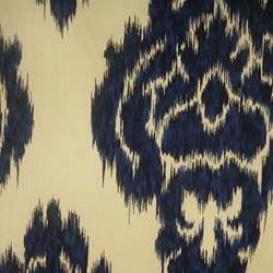 E20862 Kalah #5 Blue Ikat Contemporary Drapery Fabric by Duralee - Drapery Fabrics at Buy Fabrics