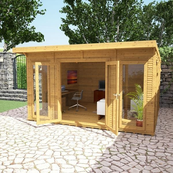 Avon 4m x 4m Insulated Garden Room - http://www.sheds.co.uk/log-cabins/insulated-garden-rooms/avon-4m-x-4m-insulated-garden-room.html