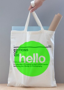 tote bag for book - screenprinted neon green overlay