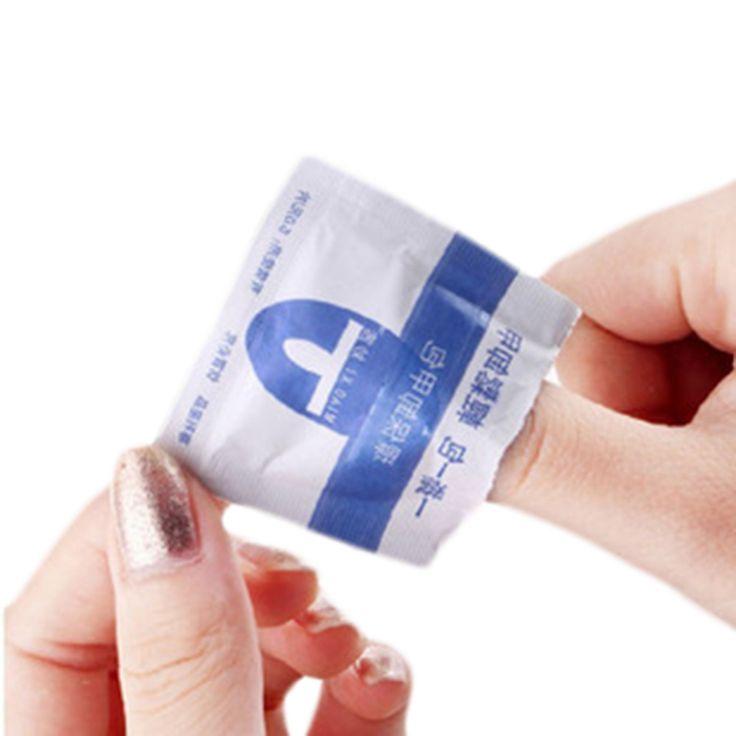 200pcs/lot 2Lots Convenient UV Gel Nail Polish Remover Wraps Acetone Nail Resurrection Clean Wipes Nail art Tools