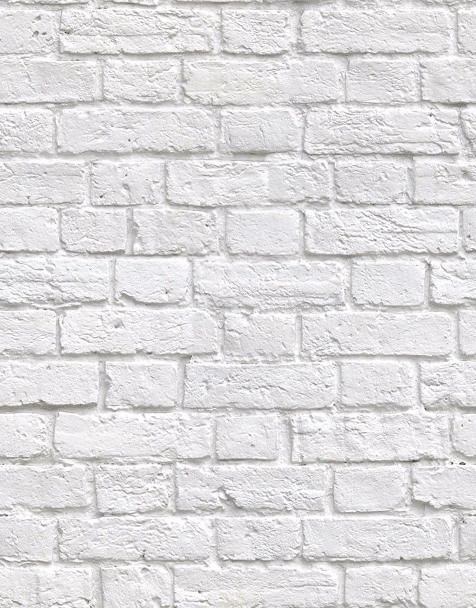 Kemra Wallpapers Soft White Bricks Wallpaper