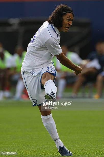 Roger Espinoza Honduras in action during the Israel V Honduras International Friendly football match at Citi Field Queens New York USA 2nd June 2013...