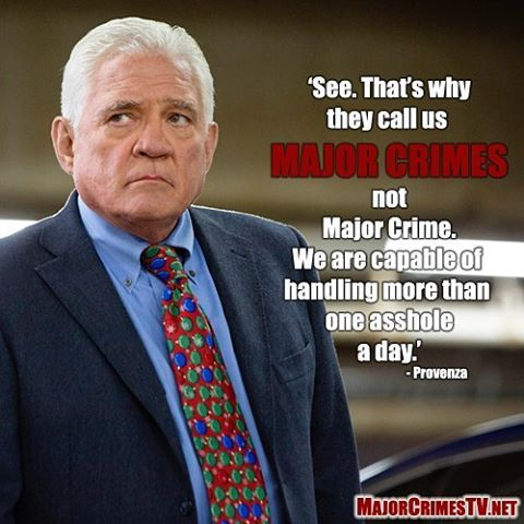 Well, he's not wrong... #RenewMajorCrimes #MajorCrimes #gwbailey #ProvenzaWisdom @tntdrama