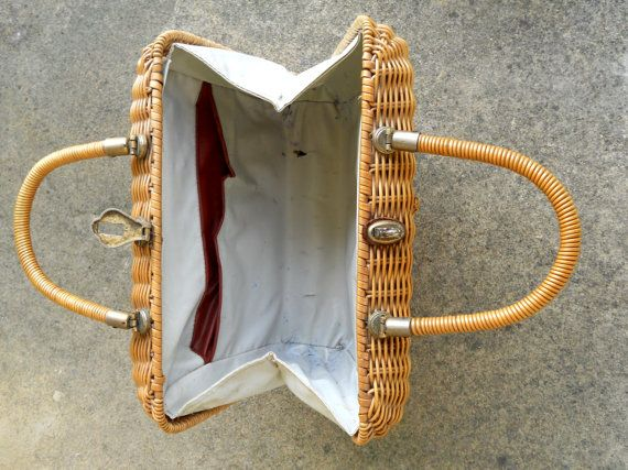 Sixties rattan wicker horse purse equestrian by posypower on Etsy
